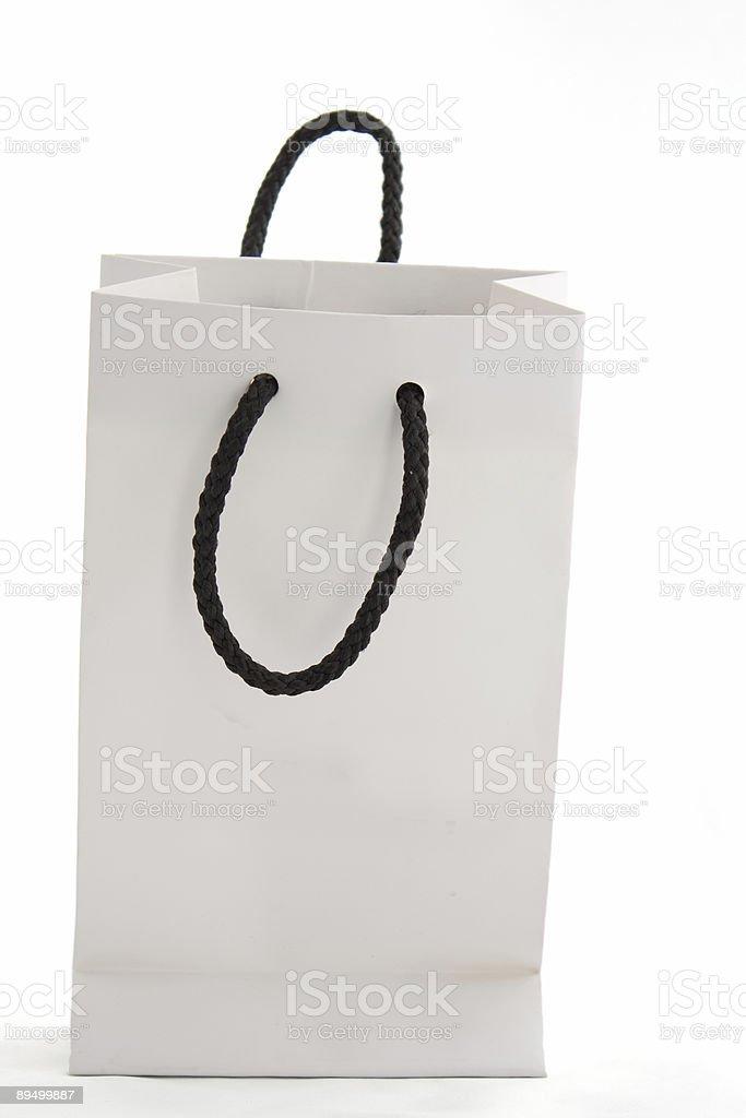 Sacchetto di carta bianco foto stock royalty-free