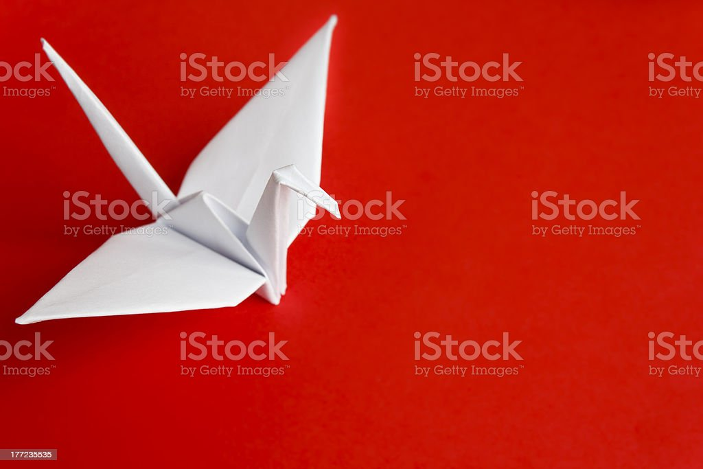 White paper bird stock photo