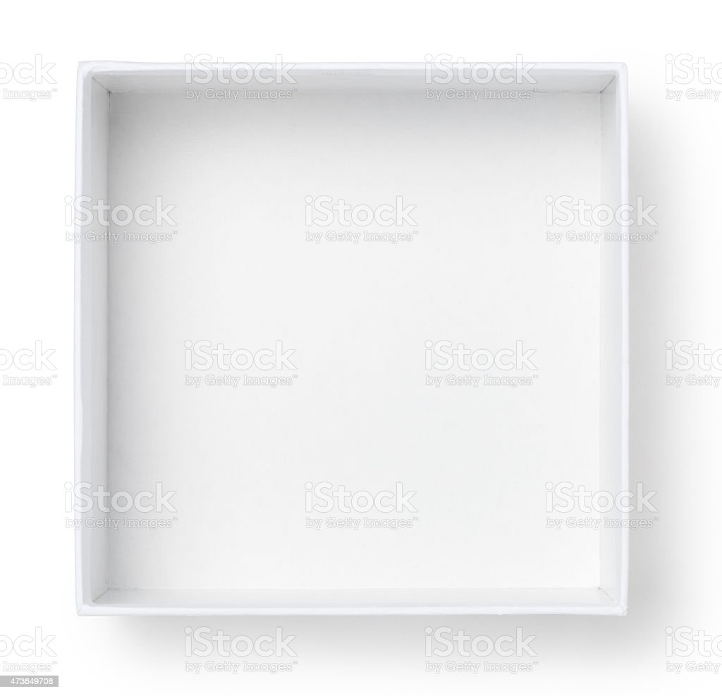 White paper box stock photo