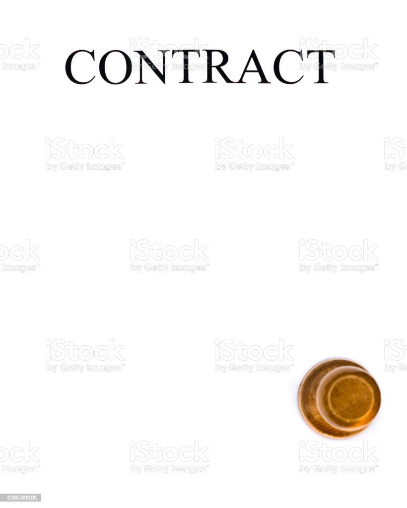 White paper contract stock photo