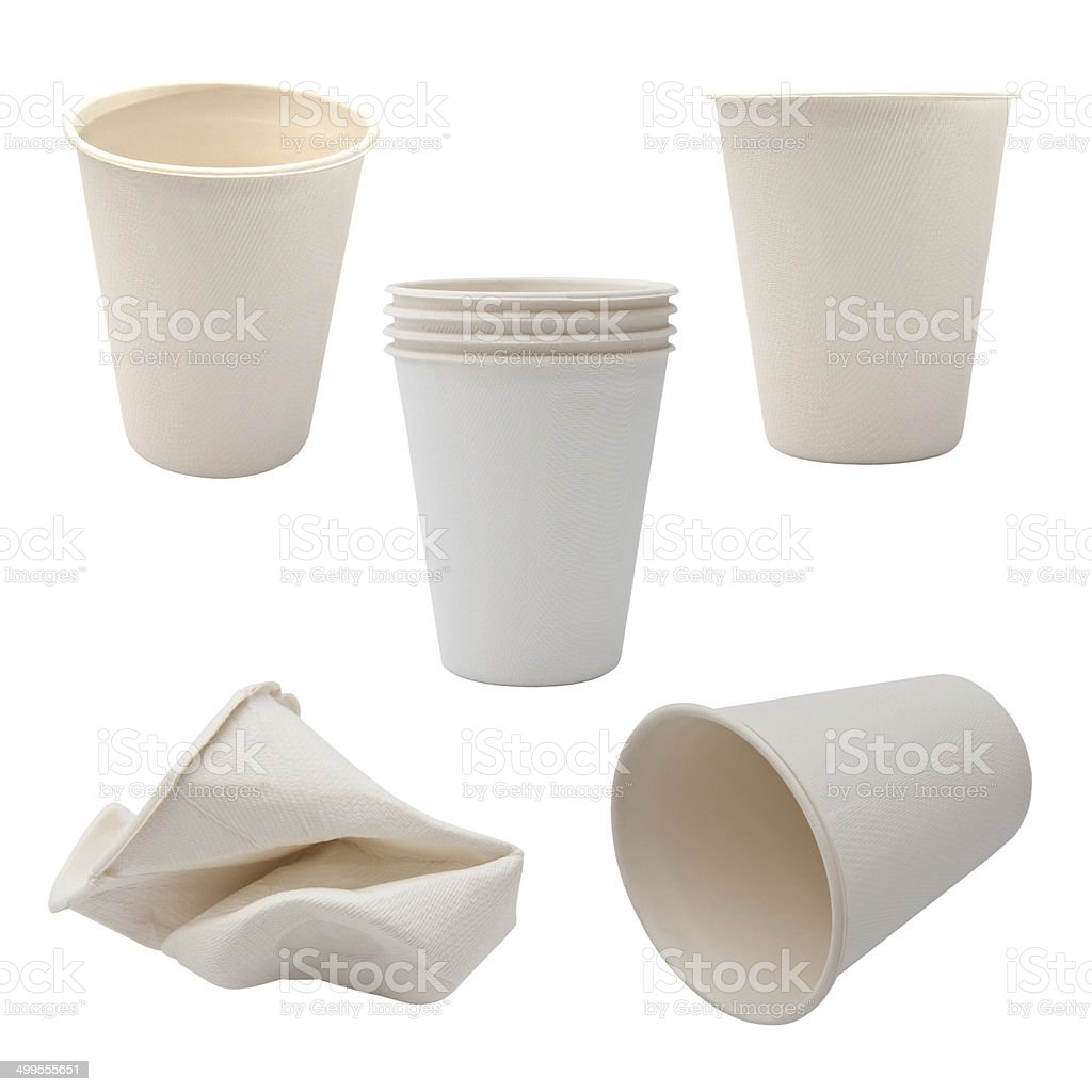 White Paper Cup close up stock photo