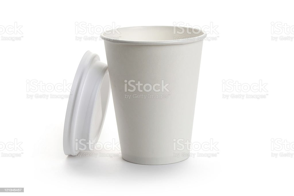 White Paper Cup stock photo