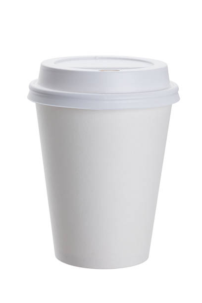 white paper cup - paper coffee cup stock photos and pictures