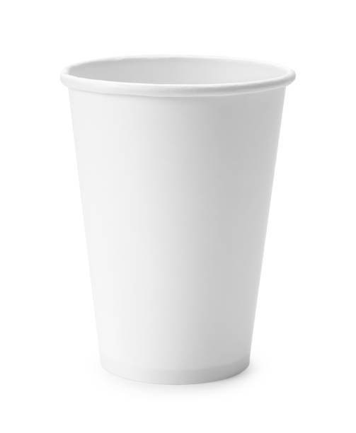 White Paper Cup White Paper Cup Isolated on White Background. disposable cup stock pictures, royalty-free photos & images