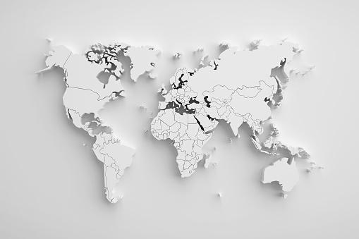 White Paper Earth 3d Karte Stockfoto und mehr Bilder von Abstrakt