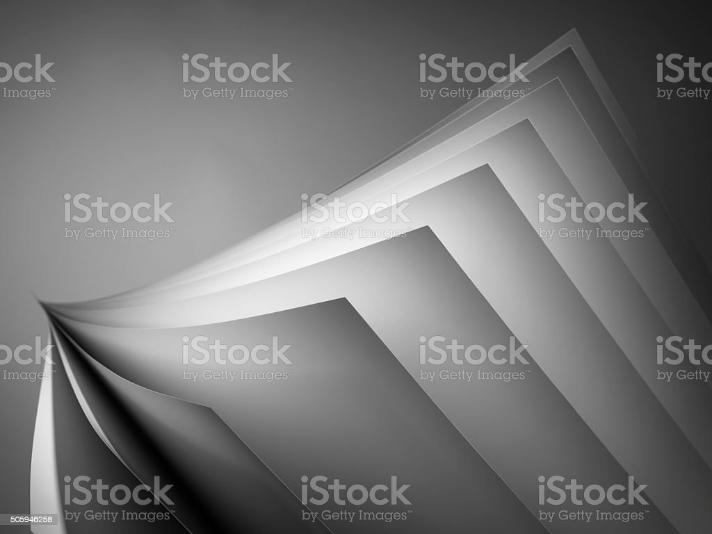 White Paper Fan On Black - Stock image stock photo