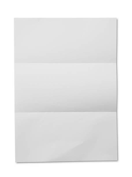 weißes papier gefaltet - faltpapier stock-fotos und bilder