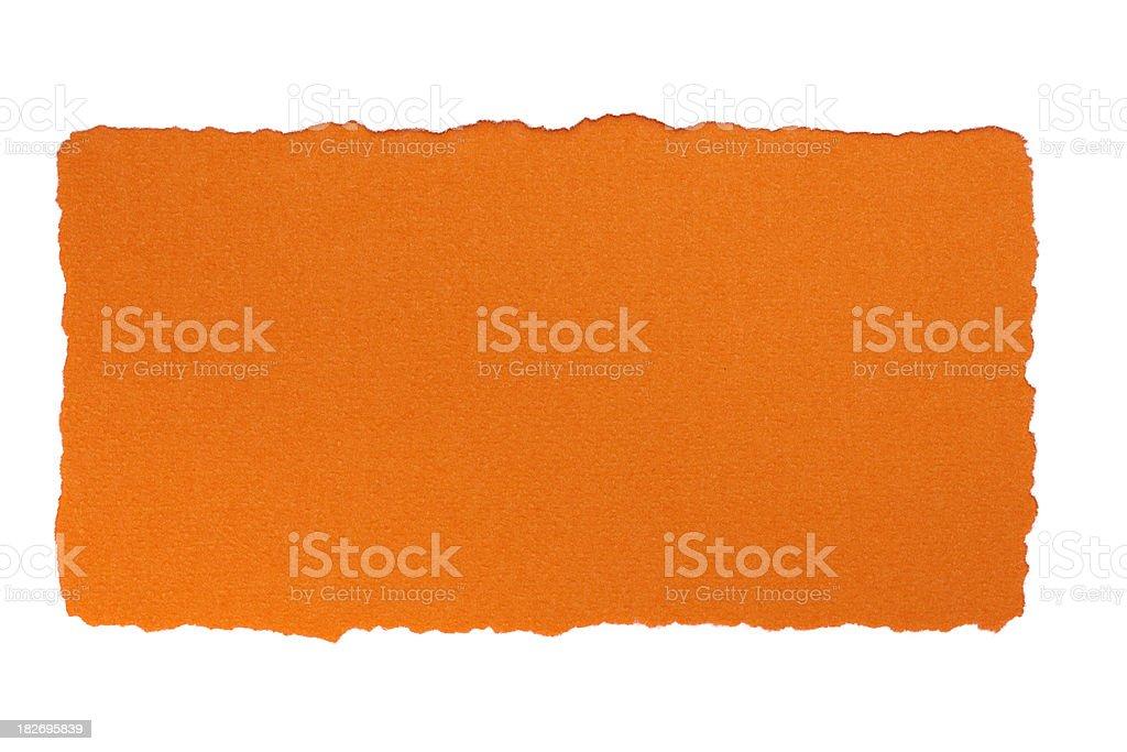 White paper frame on orange background royalty-free stock photo