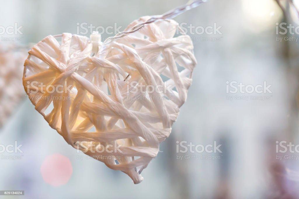 Libro Blanco corazón - foto de stock