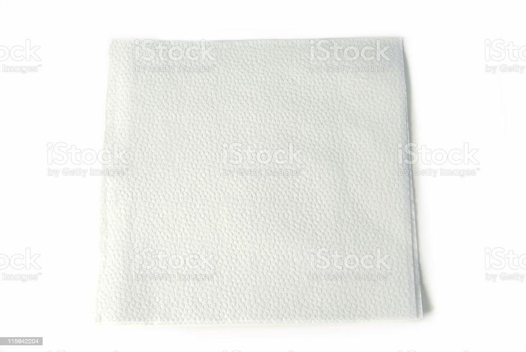White Paper Napkin stock photo