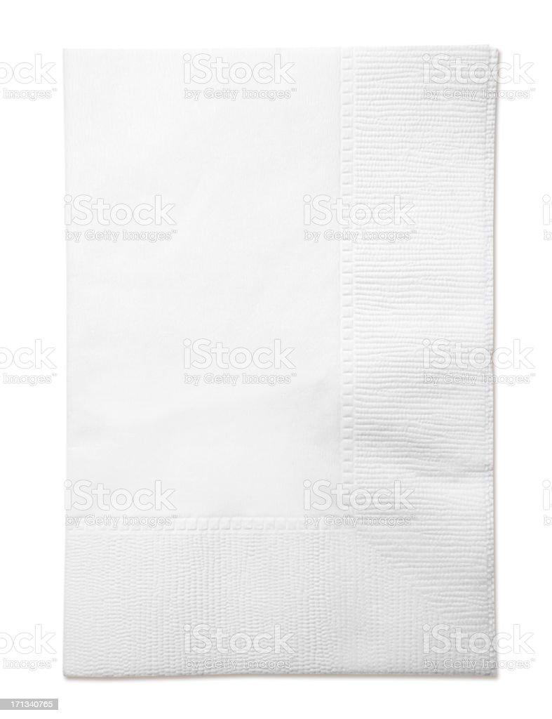 White Paper Napkin royalty-free stock photo
