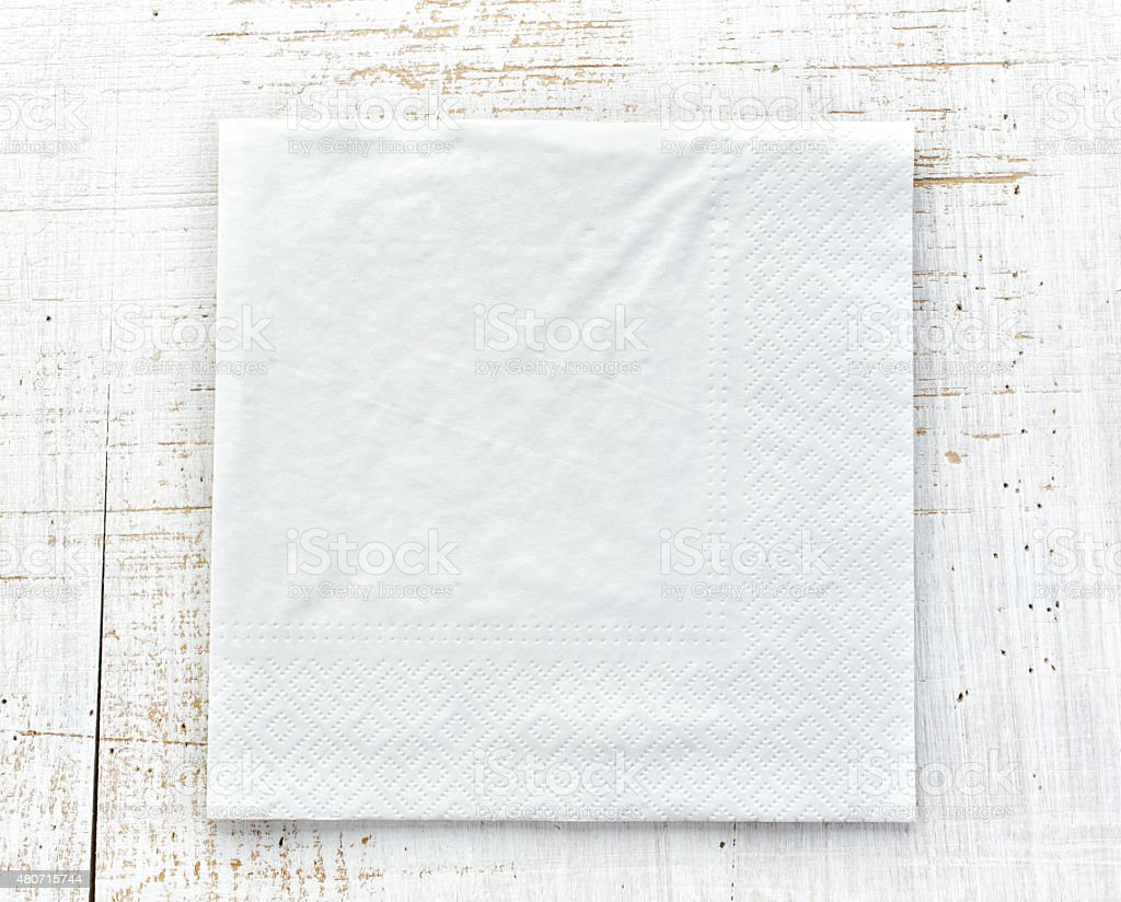 white paper napkin stock photo