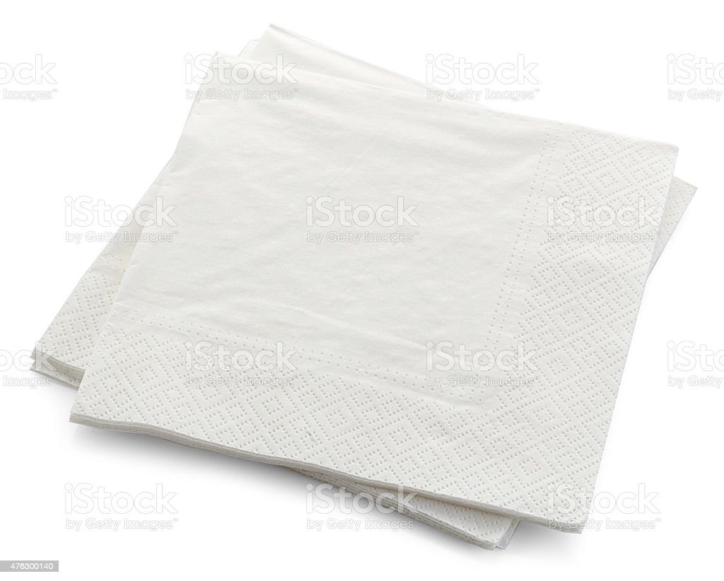 white paper napkins stock photo