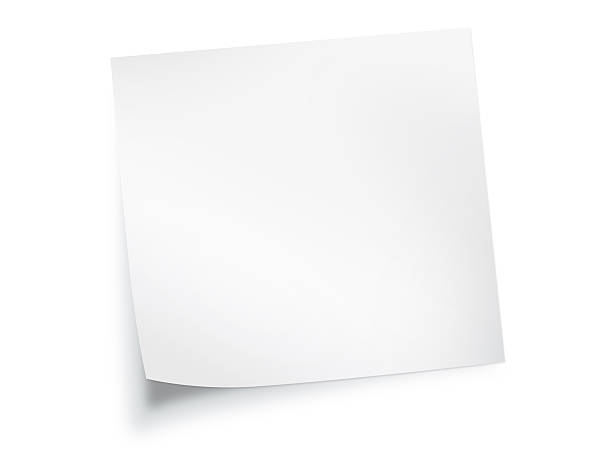 white paper note background - curled up stock pictures, royalty-free photos & images