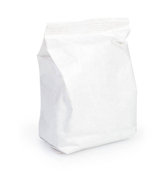 white Paper pack stock photo