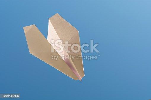 658921430 istock photo white paper plane on blue sky 688236860