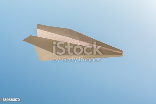 istock white paper plane on blue sky 689630570