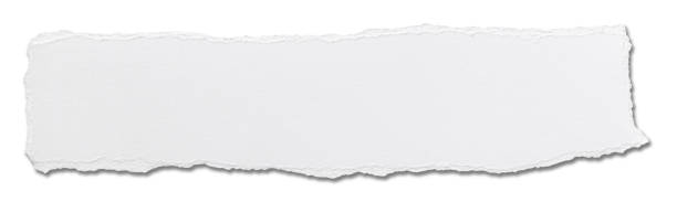 papel blanco arrancó el fondo del mensaje - ripped paper fotografías e imágenes de stock