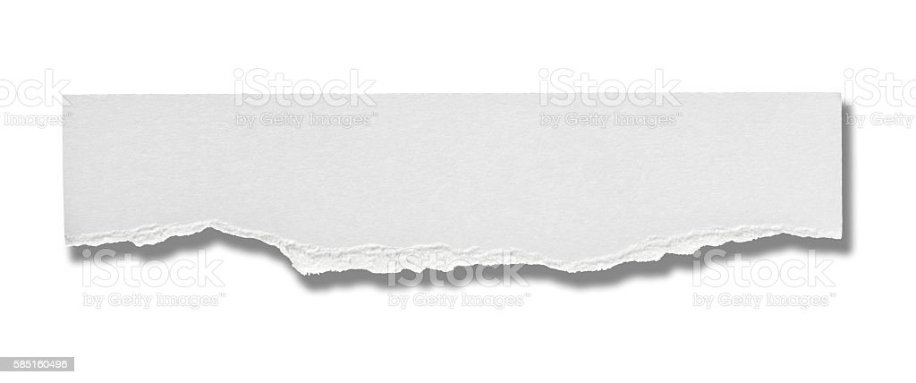 white paper ripped message background stock photo