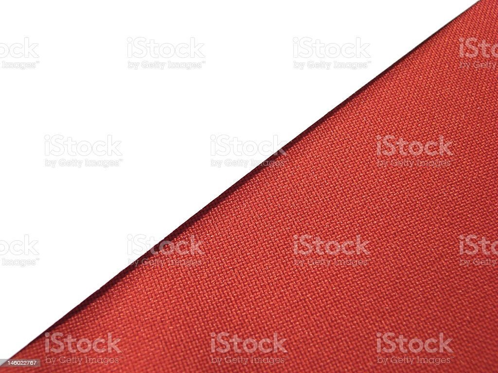 White paper sheet on red stock photo