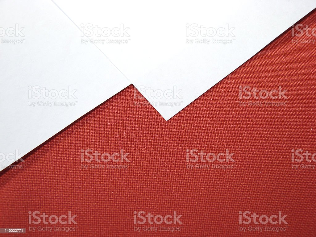 White paper sheets on red stock photo