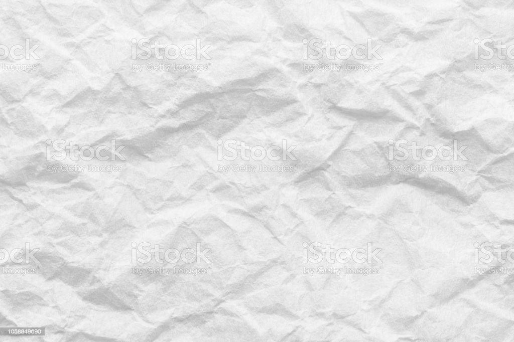 Foto de Textura De Papel Branco Fundo De Folha De Papel Amassado e ...