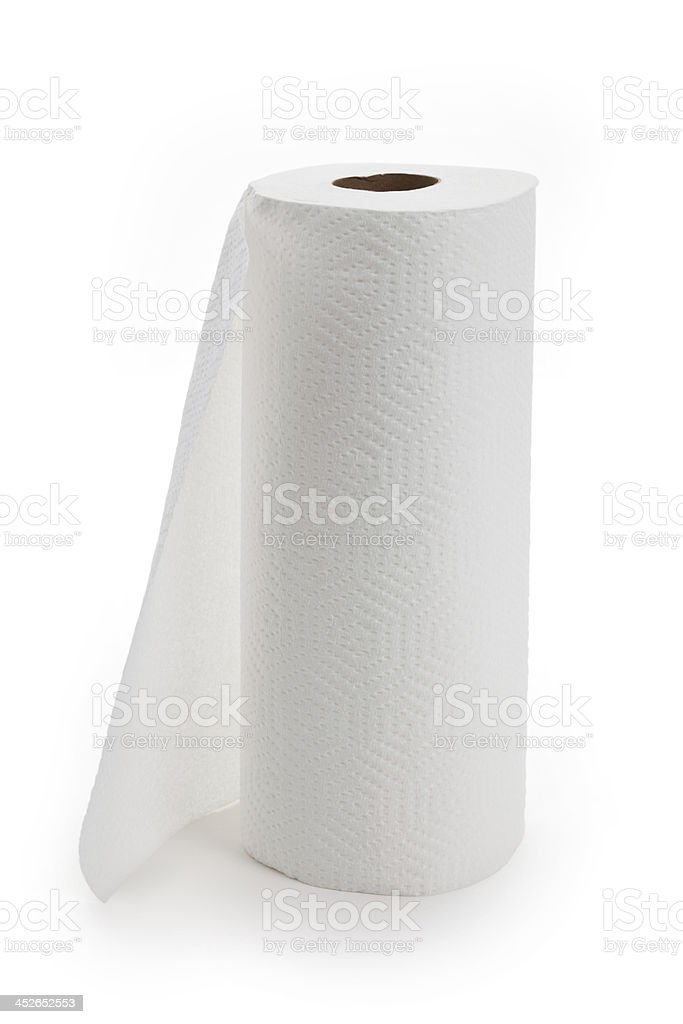 White Paper Towel Roll Stock Photo & More Pictures of Cleaning | iStock