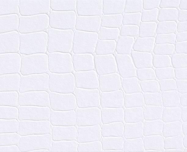 weißes papier mit geprägtem leder textur hintergrund - brokat stock-fotos und bilder