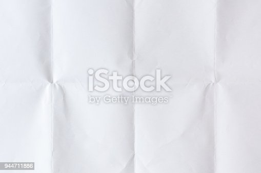 White paper with fold background
