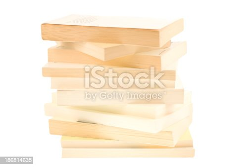 istock white paperback books with copyspace 186814635