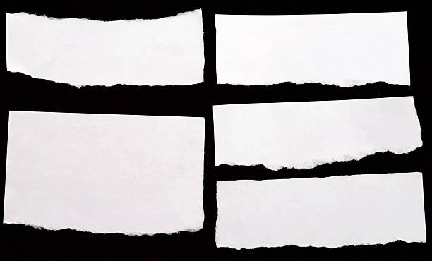 libros blancos - ripped paper fotografías e imágenes de stock