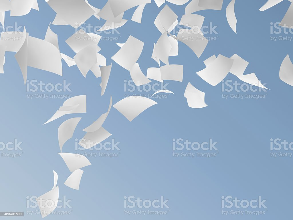 white papers stock photo