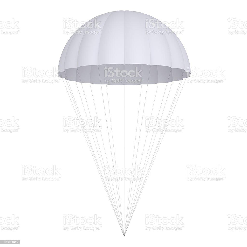 White parachute stock photo