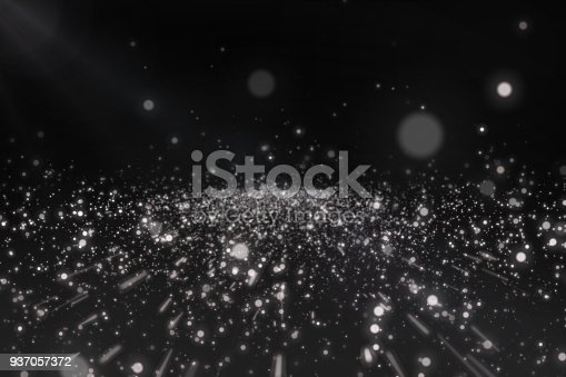 istock White Particles on black background 937057372