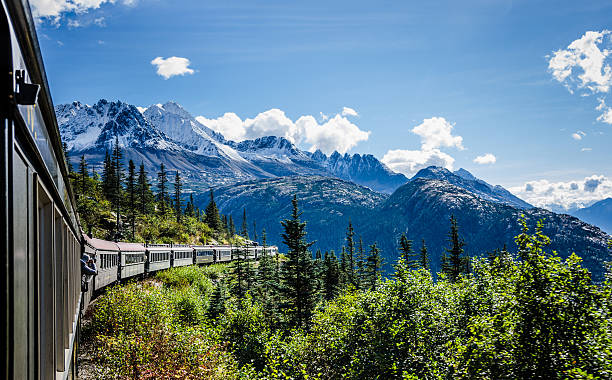 White Pass and Yukon Route Railroad stock photo