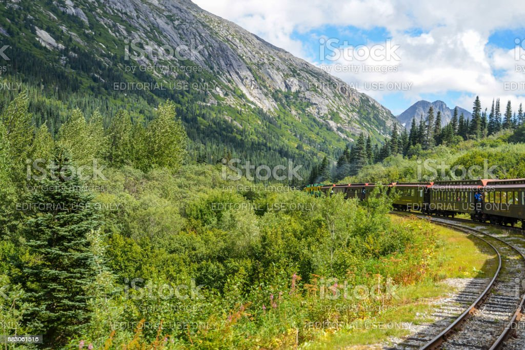 White Pass train ride stock photo