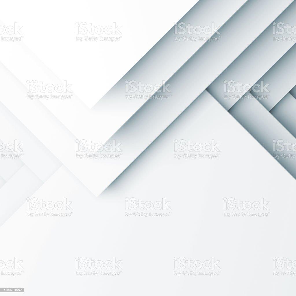 Weiße Muster aus quadratischen Schichten. 3D render – Foto