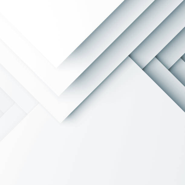 motif blanc carrés couches. rendu 3d - origami photos et images de collection