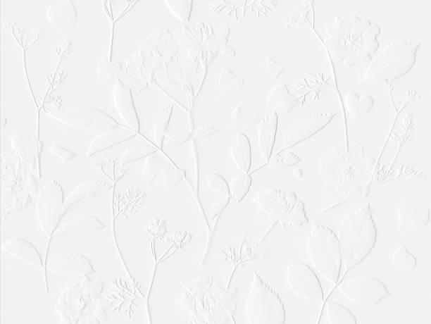 Weiße Muster, Rosen und Thymian – Foto