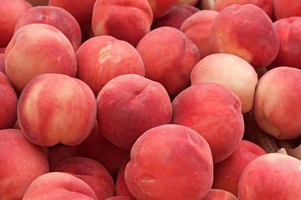 White Peaches stock photo