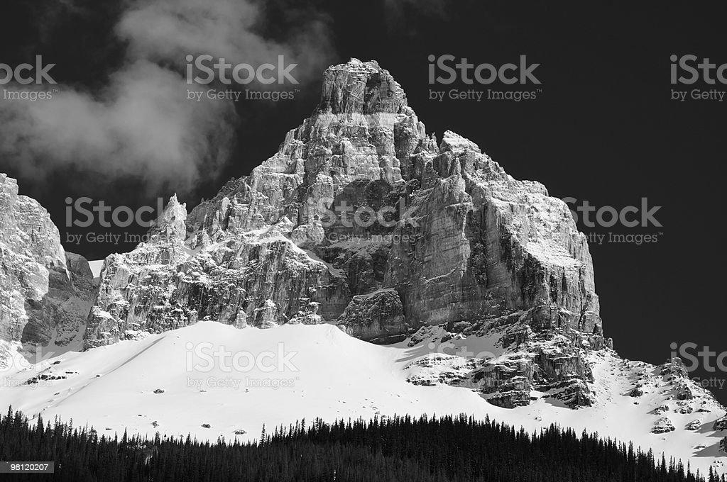 White Peak royalty-free stock photo