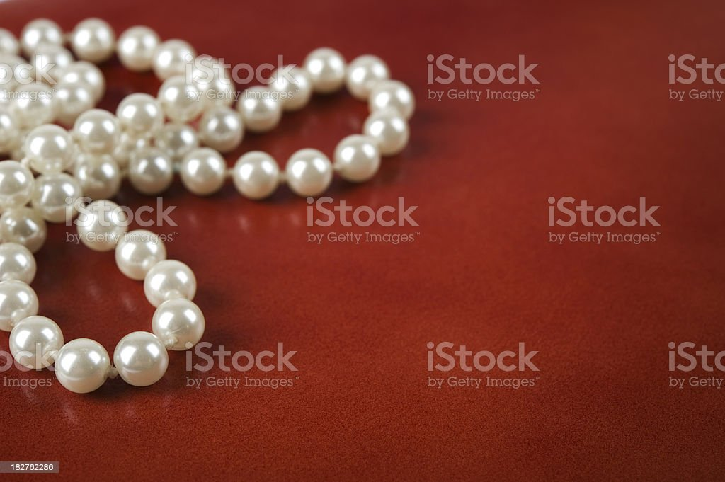 White pearl necklace royalty-free stock photo