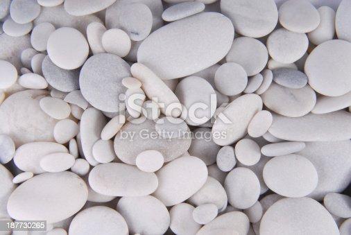 white pebbles stones background