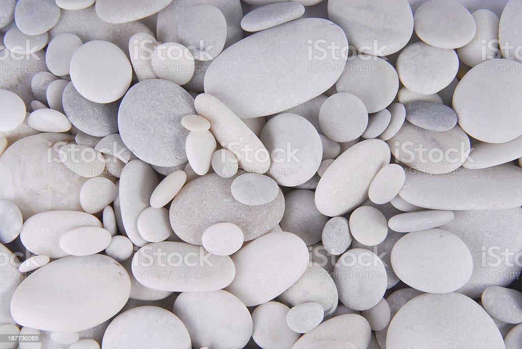 white pebbles stones background stock photo