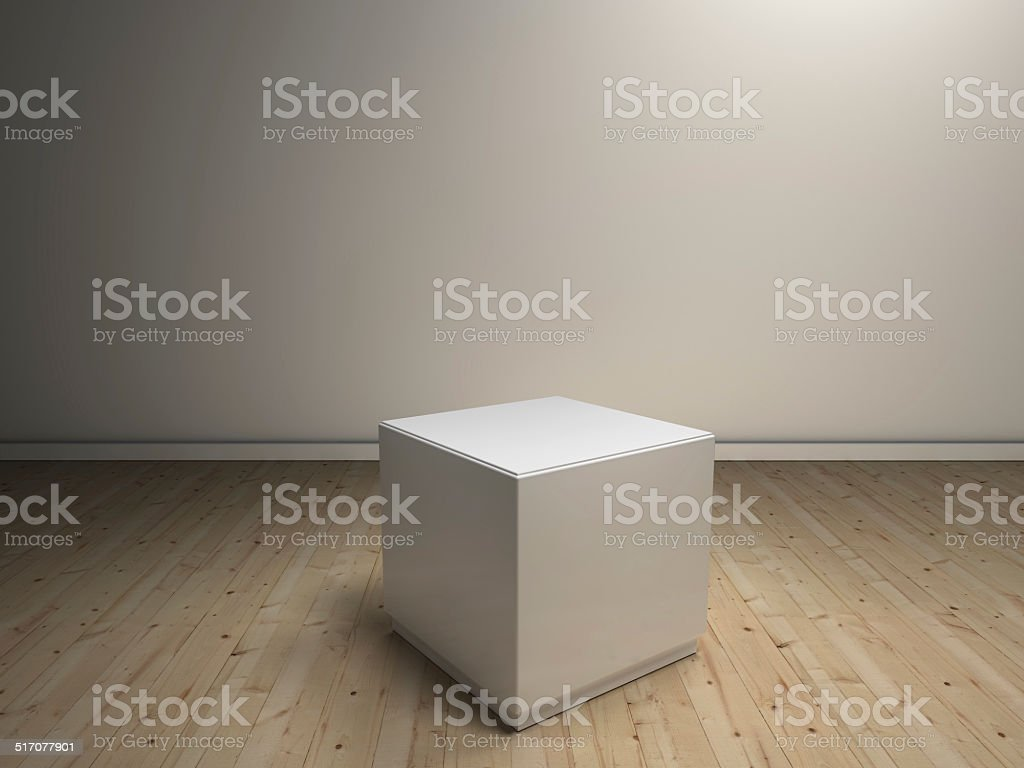 white pedestals to place product stock photo