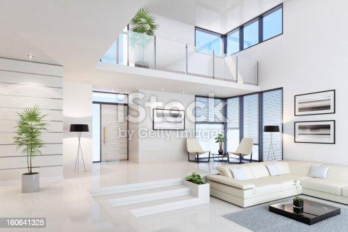Luxury white interior.