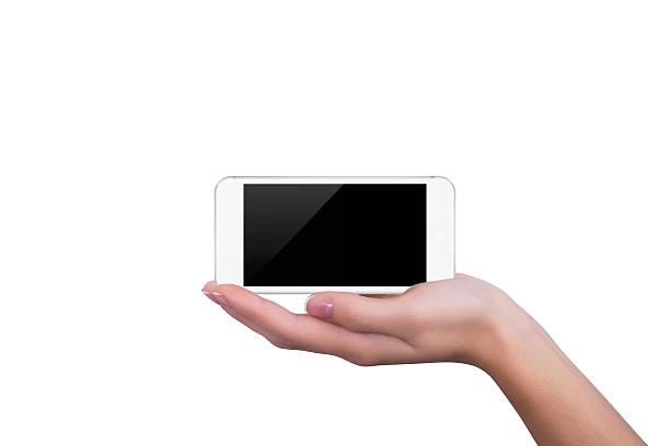 Weißes Telefon liegen auf der Seite der Mädchen – Foto