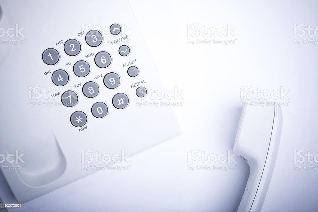 White phone royalty-free stock photo