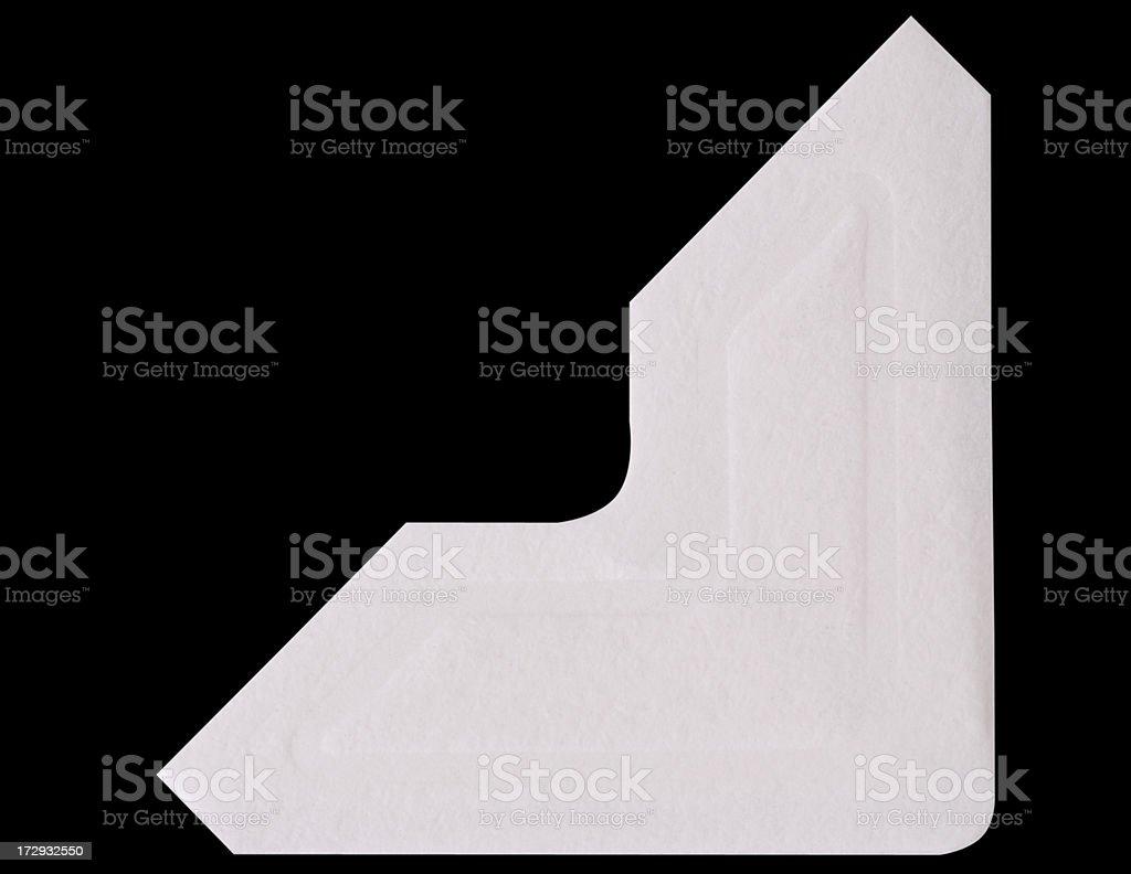 White Photo Corner stock photo