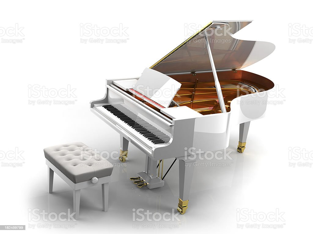 White Piano royalty-free stock photo